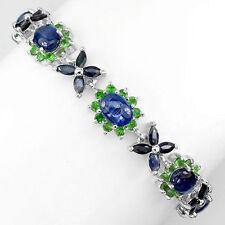 Not Enhanced Sapphire Sterling Silver Fine Bracelets