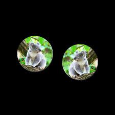 Earrings 9931032 new fun jewelry Koala Bear Post 1 Inch Button