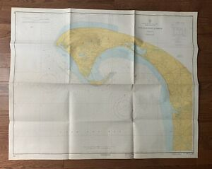 "Vintage 1962 Provincetown Harbor Nautical Chart Map - 35"" x 43"""