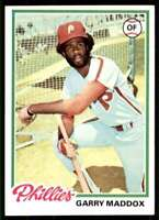 1978 Topps (78.2) Garry Maddox Philadelphia Phillies #610