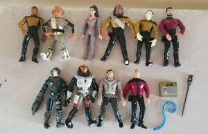 10 x Vintage 90's Playmates Star Trek Mixed Action Figures Bundle / Lot