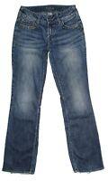 Silver Womens Jeans Size 26 Julia Bootcut Mid Rise Distressed Stretch Blue Denim