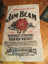 Jim beam  bar flag 5 x 3 foot mancave bundy rum Harley Davidson Jack Daniels
