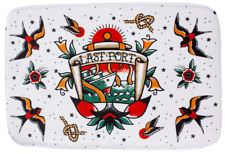Sourpuss Last Port Bath Mat NEW Nautical Tattoo Flash Bathroom Floor Rug Soft