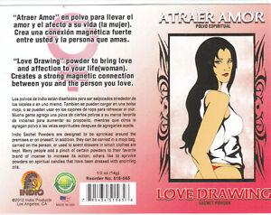1 pkt  ATRAER AMOR LOVE DRAWING POLVO ESPIRITUAL SACHET POWDER  1/2 OZ