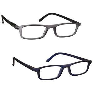 Lightweight Matt Finish Reading Glasses Designer Style Mens Womens UV Reader