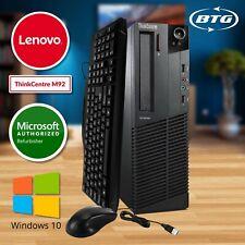 Ultra Fast Lenovo Desktop Computer Quad Core i5 16GB 240GB SSD Windows 10 Pro HD