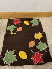 New listing Harvest Season Set Of 2 Placemats Fall Leaves Oak Maple Ash Machine Washable