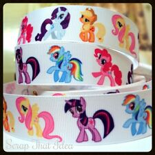 "My Little Pony RIBBON. 1"" Grosgrain. Scrapbooking/Craft. Pinky Pie,Rainbow Dash"