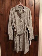 NWT - Foxcroft Long Sleeve Animal Print Dress - Size 14