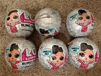 Big Sister Series 1 Glam Glitter Bling Ball Blue Pearl LOT NEW LOL Surprise