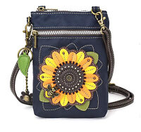 Chala Handbags Sunflower Cell Phone Crossbody Bag with Zipper - RFID Protection