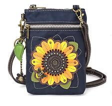 Chala Handbags Sunflower Cell Phone Crossbody Bag with Zipper - RFID Protection