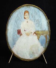 Ancienne miniature de style impressionniste vers 1900 paint peinture