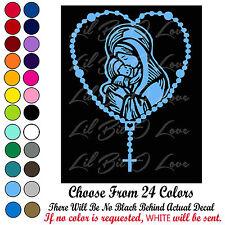 Rosary Vinyl Decal Mary & Baby Jesus Sticker Catholic Holy Rosary Christianity