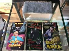 Ed Wood VHS 3 Movie Collector's Set in Fuzzy Case