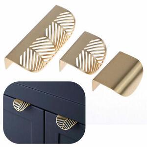 Leaf Shape Furniture Cupboard Cabinet Wardrobe Drawer Pull Knob Brass Handle New