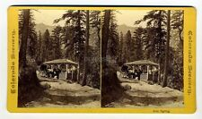 old photo IRON SPRING stereoview COLORADO MOUNTAIN SCENERY Chamberlain waters