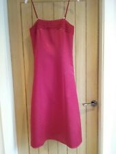 Red satin dress. Size 10. Party/ prom/wedding. Shoestring straps. Quality