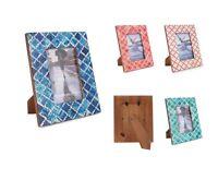 Picture Photo Frame Moorish Moroccan Inspired Handmade Bone B&W Frames Size 4x6