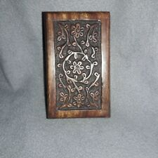 "Carved Hard Wood Small Pet urn 5""×3""×2"". Very good Craftsmanship (20 yr old pet)"