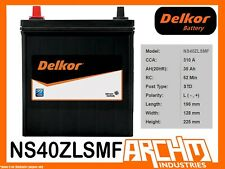 DELKOR BATTERY - CALCIUM NS40ZLSMF CCA 310 A 35 AH SAE RHP - MAINTENANCE FREE