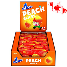 Allan Peach Slices Gummy Fun Fruit Chewy Candy 1,08 kg Made In Canada