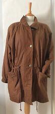 Ladies true vintage tan leather coat 40