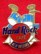 HRC Hard Rock Cafe New Orleans Blue Drum Set Red Logo 3LC