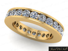 Eternity Band Ring 10k Gold Si2 2.30Ct Round Diamond Classic Channel Set Wedding