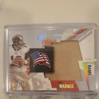 2003 SPx Winning Materials Kurt Warner Game Used Jersey Relic Flag 10/25