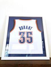Signed Kevin Durant White Jersey Custom Frame - Nets, Warriors, Thunder fans
