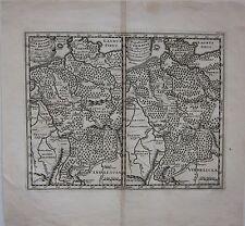 1661 GERMANIAE INTER RHENUM ET ALBIM map Philipp Cluver Deutschland Germany