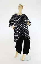 Gepunktete Kurzarm Damenblusen, - tops & -shirts für Business-Anlässe
