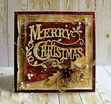 Christmas Words Metal Cutting Dies Scrap booking Stencil Die Cuts Card