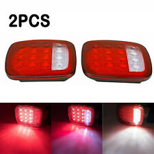 LED Tail Lights Rear Brake Lamps Turn Stop Reverse for Jeep Wrangler TJ CJ 76-06