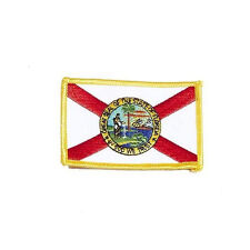 FLORIDA USA STATE SQUARE FLAG EMBROIDERED IRON-ON PATCH CREST BADGE