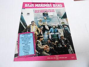 1968 (NOS) HITS OF THE  BAJA MARIMBA BAND vintage music song book