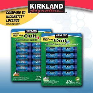 Kirkland Signature Quit Lozenges 2- 4mg 270 Pieces Mint Lozenge Stop Smoking Aid