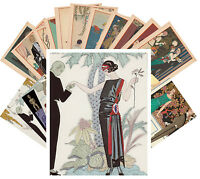 Postcards Pack [24 cards] George Barbier Vintage La Vie Perisien Ponchoir CC1052