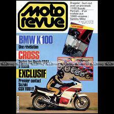 MOTO REVUE N°2628 SUZUKI GSX 1100 EF BMW K 100 TROPHEE HONDA ATC SAMMY MILLER 83