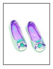 Girls 11 12 Ariel Little Mermaid Dress Up Costume Shoes Slippers