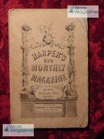 HARPER's August 1858 Wyoming Belgium William Makepeace Thackeray +++