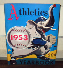 "1953 ""PHILADELPHIA ATHLETICS"" BASEBALL YEARBOOK   B&W   48 PAGES"