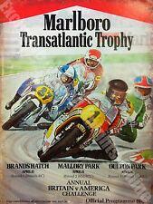 Transatlantic Trophy, Barry Sheen, Suzuki, Motorbike Race, Large Metal Tin Sign