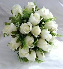 FAUX SILK BUD ROSE WEDDING BOUQUET / POSY IDEAL BRIDE OR BRIDESMAIDS
