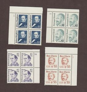 US,2193,2194,2195,2196,PLATE BLOCK,GREAT AMERICANS,,MNH VF COLLECTION MINT NH,OG