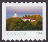 2020 = FROM FAR AND WIDE = hand cut coil stamp = LIGHTHOUSE = 1.94 MNH Canada