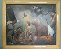 GREGORY PERILLO'S Ltd Ed PEACEABLE KINGDOM NATIONS AT REST Signed & Framed