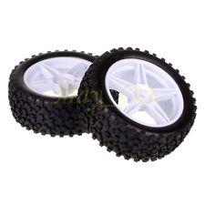 2x 1/10 HSP Off-road Buggy 06008 Front Wheel Rim Tyre,Tires Insert Sponge 66001